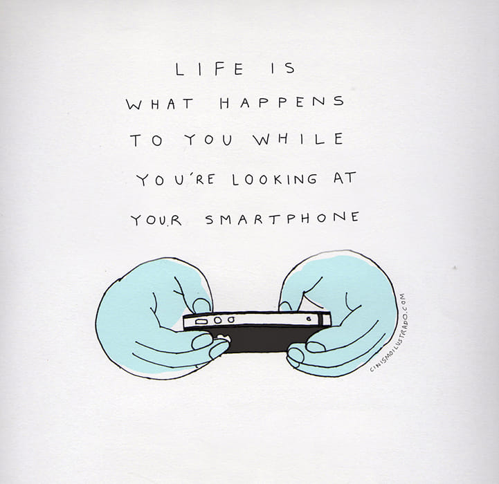 cartoon life and smartphones